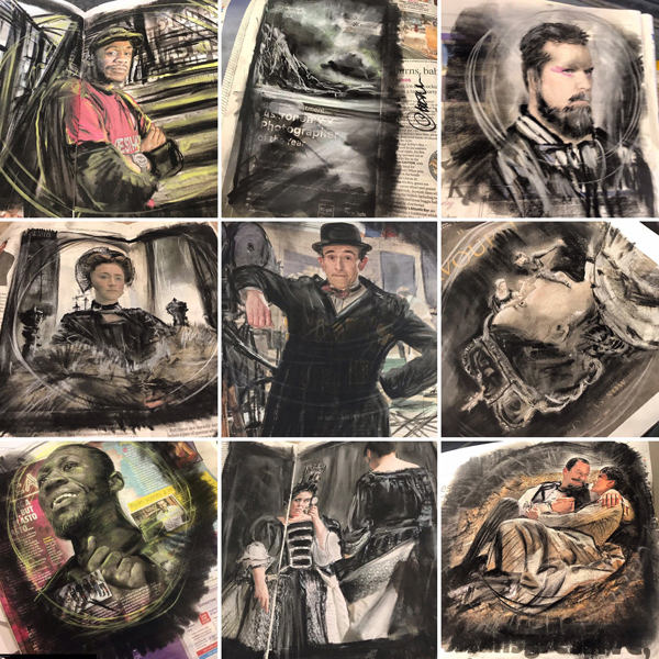 #CompulsiveCharcoal: Free Art for Commuters