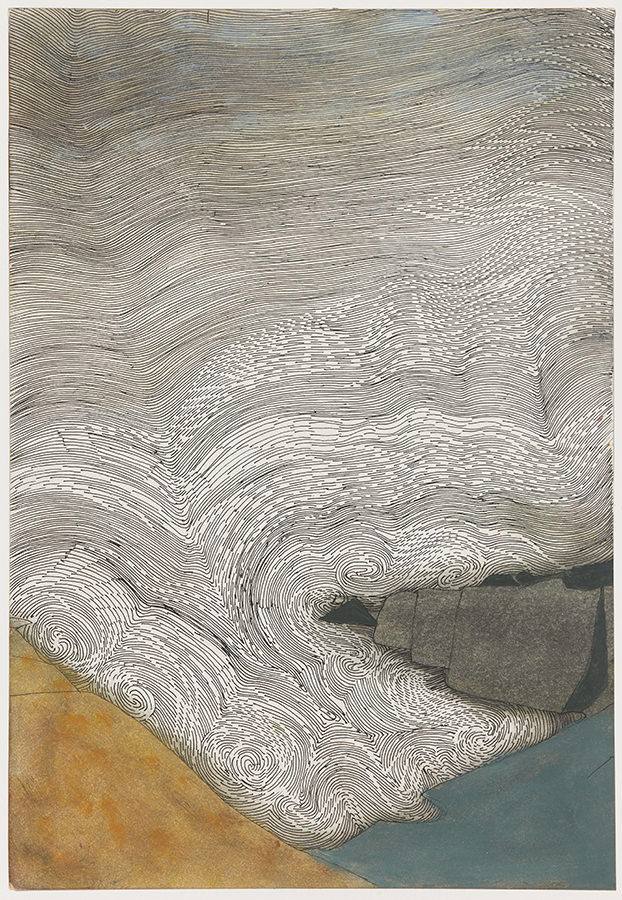Wilhelmina Barns-Graham, Sea Sound Series No.8, 1980. Part of the Linear Meditations exhibition.