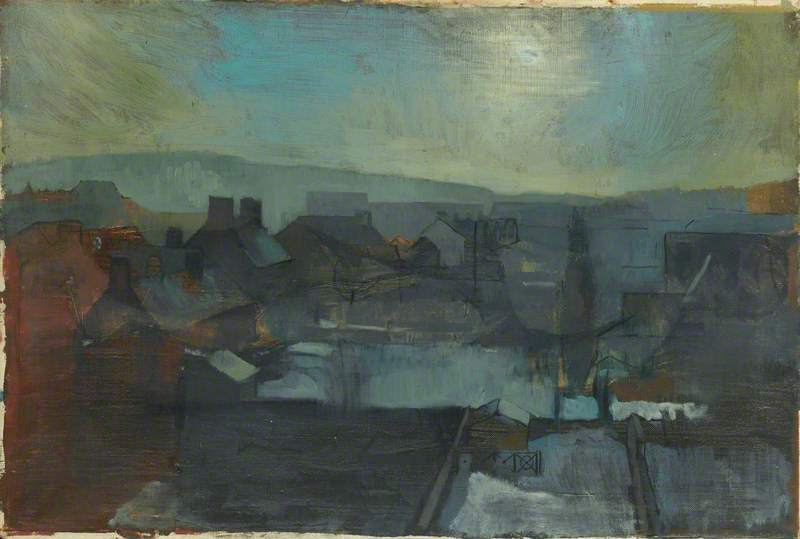 Colin Hayes, Oxford Roofs. Arts Council Collection, Southbank Centre, London © the artist