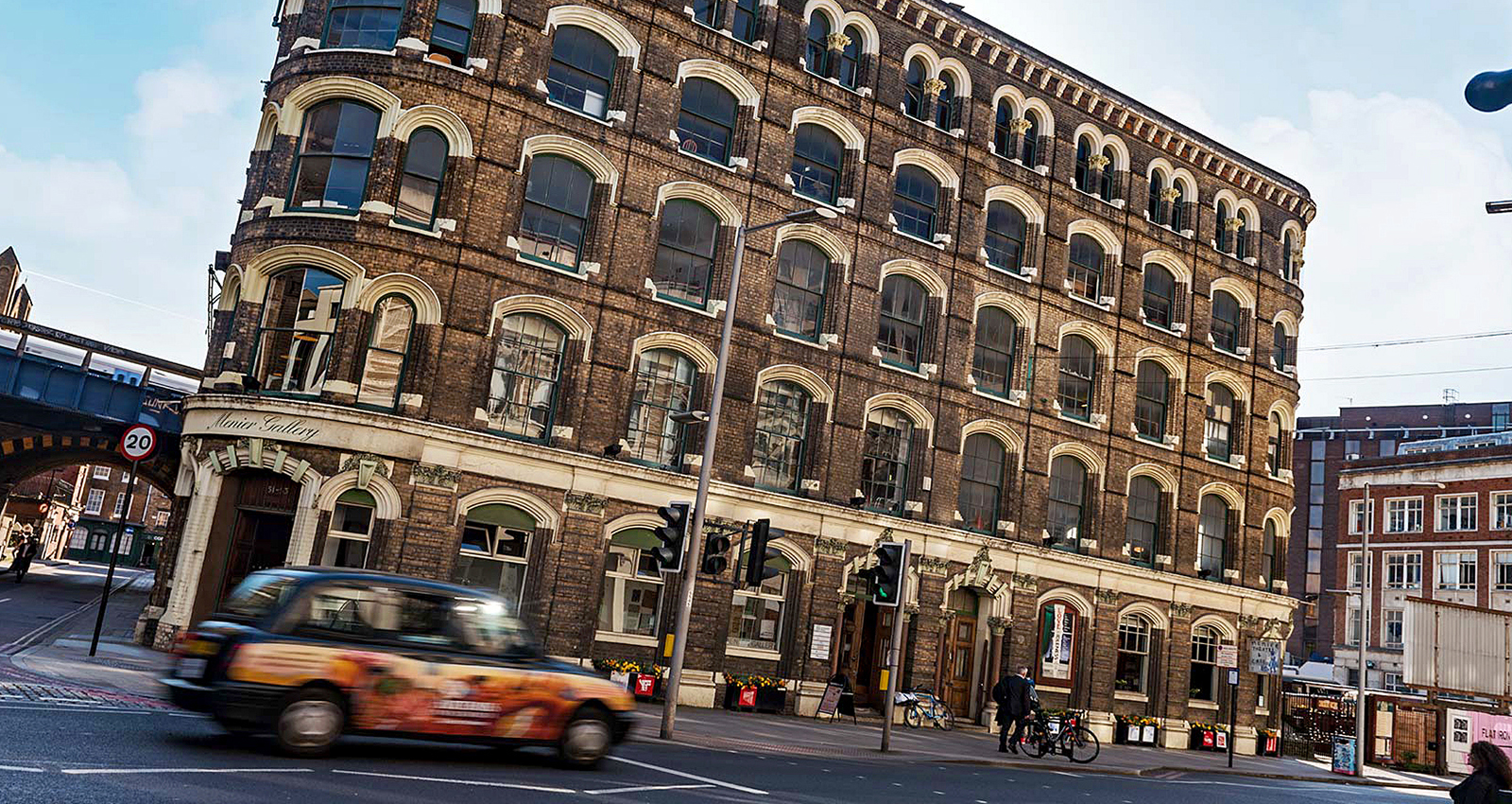 Exterior of the Menier Chocolate Factory building