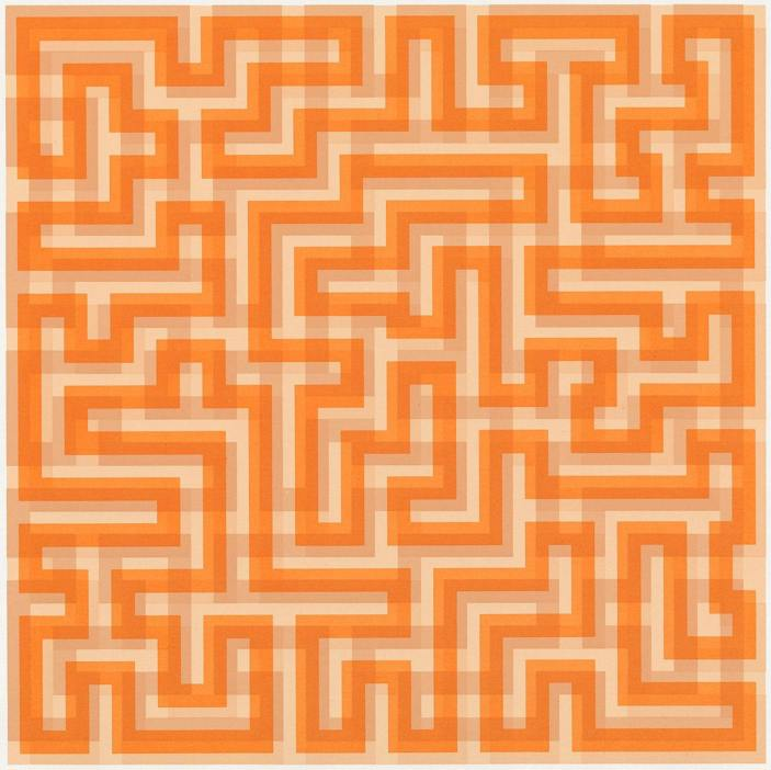 Anni Albers, Orange Meander, 1970. Part of the Paintings in Hospitals collection.