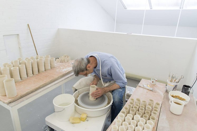 Edmund de Waal at work in his studio