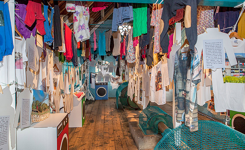 Mahlia Amatinas award-winning social art project Around the World in 80 Washing Lines.