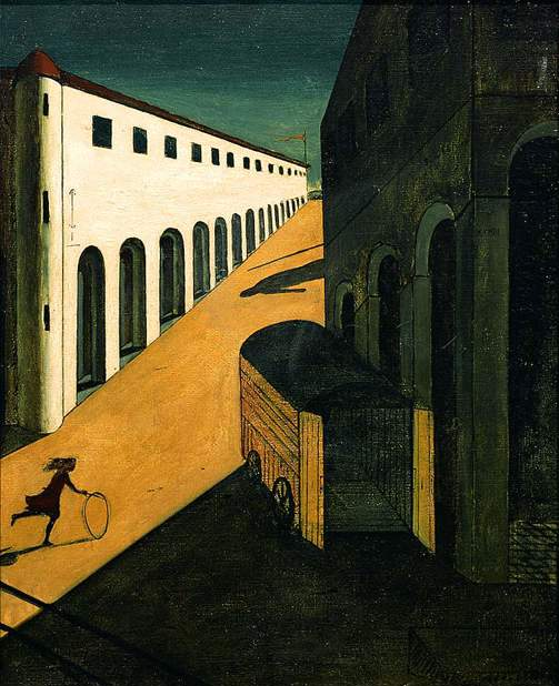 Giorgio de Chirico, Mystery and Melancholy of a Street, 1914.