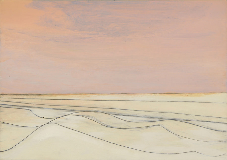 Wilhelmina Barns-Graham, West Sands (St Andrews) July, 1981. Part of Paintings in Hospitals Linear Meditations exhibition. Courtesy of the Barns-Graham Charitable Trust