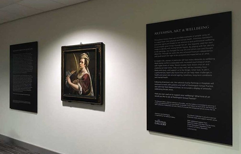Artemisia Gentileschi as Saint Catherine of Alexandria is now on display at Pocklington Group Practice, East Yorkshire
