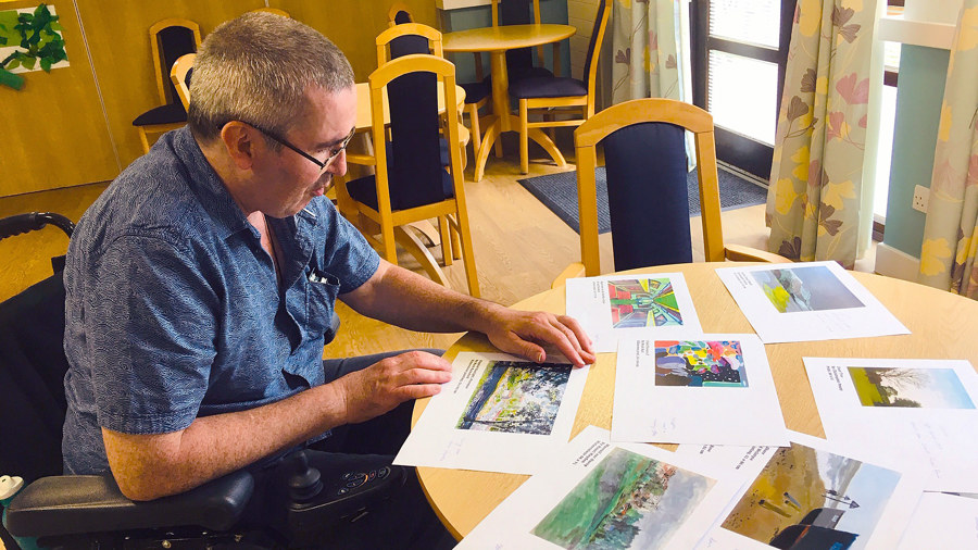 Residents selecting new artworks for their communal spaces at Coopers Court