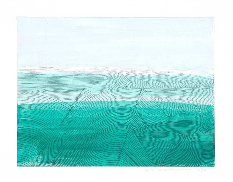 Wilhelmina Barns-Graham, Glacier Field, 1978. Part of Paintings in Hospitals Linear Meditations exhibition. Courtesy of the Barns-Graham Charitable Trust