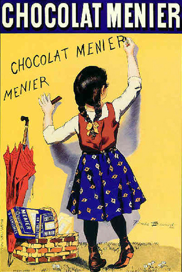 An old poster for the original Menier Chocolate