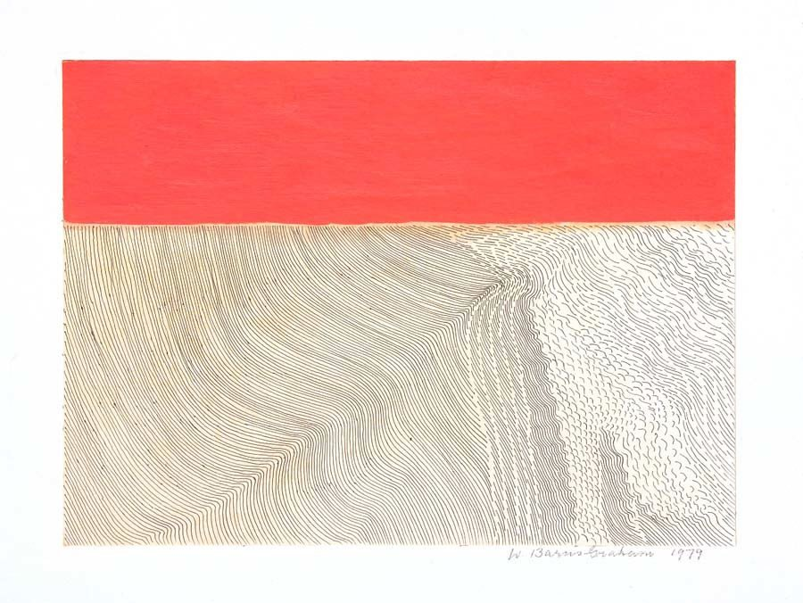 Wilhelmina Barns-Graham, (Winter Movement) Desert, 1979. Part of Paintings in Hospitals Linear Meditations exhibition. Courtesy of the Barns-Graham Charitable Trust