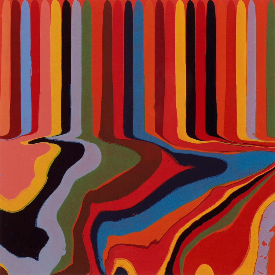 Ian Davenport, Colorplan Series: Bright Red Etching, 2011, Jerwood Collection © Ian Davenport. All rights reserved DACS 2020