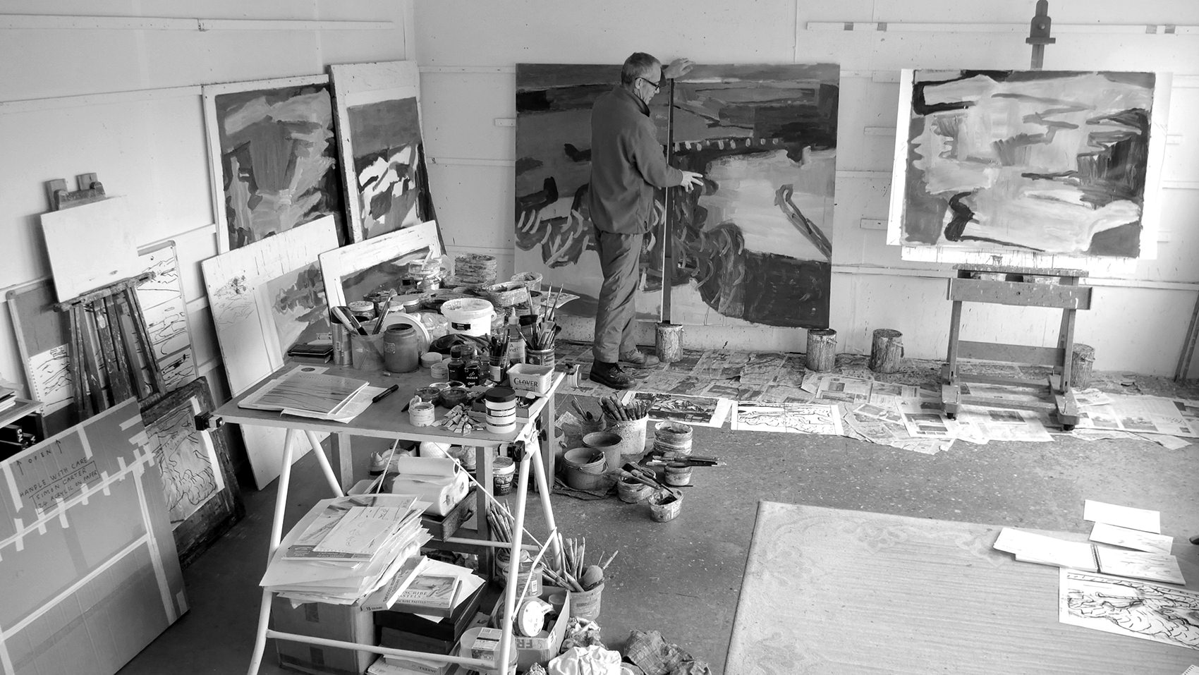 Simon Carter in his studio. Photo by Noah Carter.