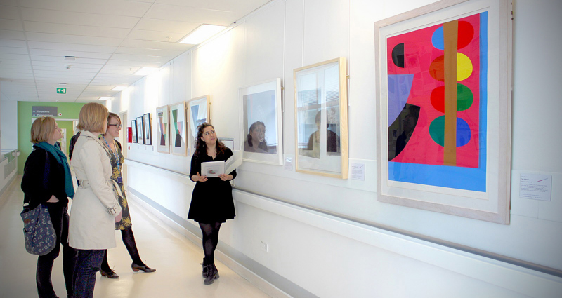 The Paintings in Hospitals showcase display at University College Hospital, London