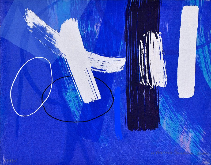 Wilhelmina Barns-Graham, Millennium Blue II, 2000