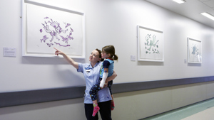 Life Under Water by Quentin Blake at Peterborough City Hospital