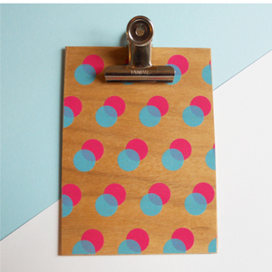 Pink Double Dot Clipboard - Small