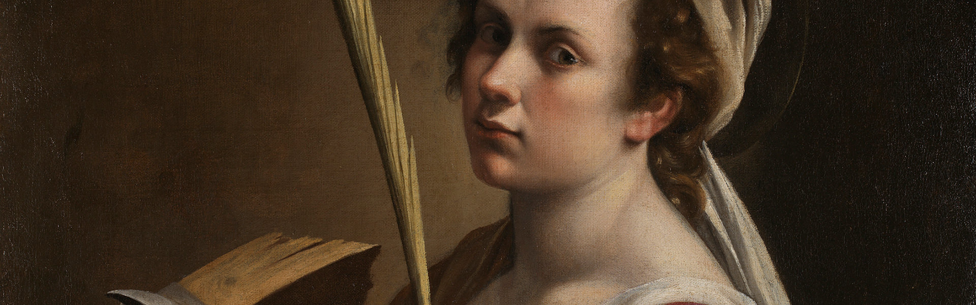 Artemisia Gentileschi, Self Portrait as Saint Catherine of Alexandria, about 1615-17. © The National Gallery, London