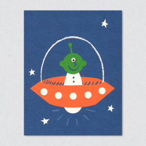 Greetings Cards: 'Alien' by Lisa Jones Studio