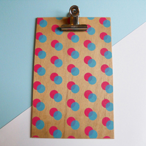 Pink Double Dot Clipboard - Large