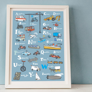 Transport Alphabet Print by Hanna Melin