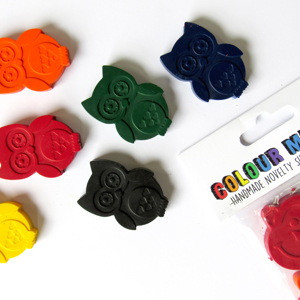 Owl Crayons by Colour Me Fun
