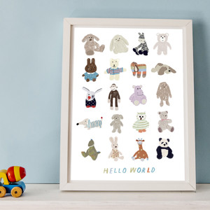 Hello World Print by Hanna Melin