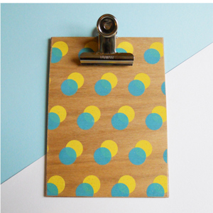 Yellow Double Dot Clipboard - Small