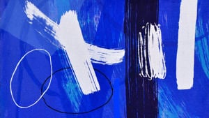 Wilhelmina Barns-Graham, Millenium Blue II (detail), 2000