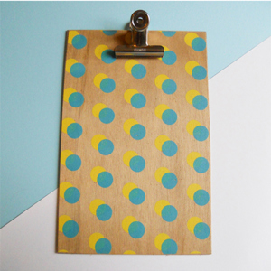 Yellow Double Dot Clipboard - Large