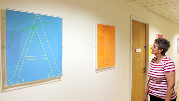 Michael Craig-Martins Alphabet artwork series brought to Vassall Medical Centre. A Paintings in Hospitals special project.