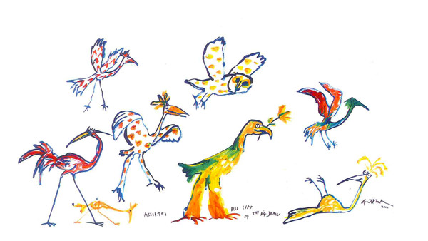 Quentin Blake, Draw the World, 2002. Part of the Paintings in Hospitals collection.