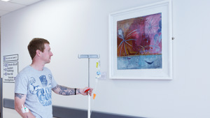 Fireworks by Sarah Borrett. Part of the Paintings in Hospitals collection. © courtesy of the artist, Paintings in Hospitals
